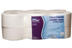 Billede af Toiletpapir Pristine Extra soft jumbo mini 2 lag nyfiber 160 meter. Diameter 18,12 Rl/krt