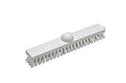 Billede af Gulvskrubbe 30 cm stiv polypropylen børstehår plast med gevind hvid,5 Stk/krt