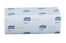 Picture of Håndklædeark Tork Xpress premium H2 interfold 2 lag soft 3 fold 21.2x26 cm.,21 pk. x 150 Stk/krt