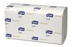 Billede af Håndklædeark Tork Extra soft hvid singlefold premium 2 lag H3 23x22.6 cm.,15 pk x 200 Stk/krt