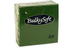Billede af Serviet BulkySoft 33x33 cm 3-lag Mørkegrøn,20 pk x 80 Stk/krt