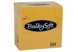 Billede af Serviet BulkySoft 33x33 cm 3-lag Gul,80 Stk/pk