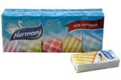 Picture of Lommetørklæde Harmony Prima 3-lag hvid 21x21 cm udfoldet,10 x 10 stk/pk