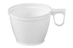 Billede af Kaffekop med hank 18 cl hvid PS,20 x 50 Stk/krt