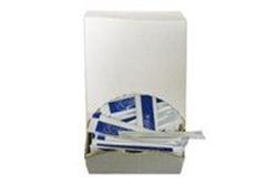 Picture of Tandstik plast hvid enkeltpakket i neutral klar/hvid folie i displayæske,400 Stk/pk