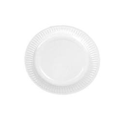 Billede af Paptallerken Catersource 18 cm rund med WB-coating bionedbrydelig Hvid,10 pk x 100 stk/krt