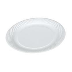 Billede af Paptallerken Catersource 23 cm rund med WB-coating bionedbrydelig Hvid,50 stk/pk