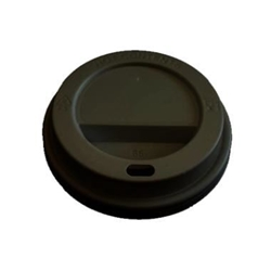 Billede af Plastlåg Catersource højt til kaffebæger diameter 80 mm sort,100 stk/ps
