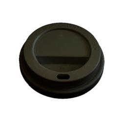 Billede af Plastlåg Catersource højt til kaffebæger diameter 80 mm sort,10 ps x 100 stk/krt