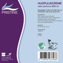Picture of Hudcreme Pristine Svanemærket uden parfume og parabener 200 ml,200 ml/tub